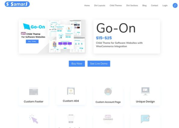 Go-On Child Theme on Divi Gallery