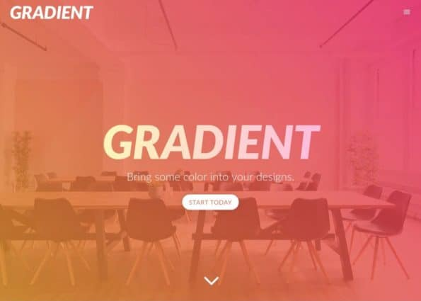 Gradient Theme on Divi Gallery