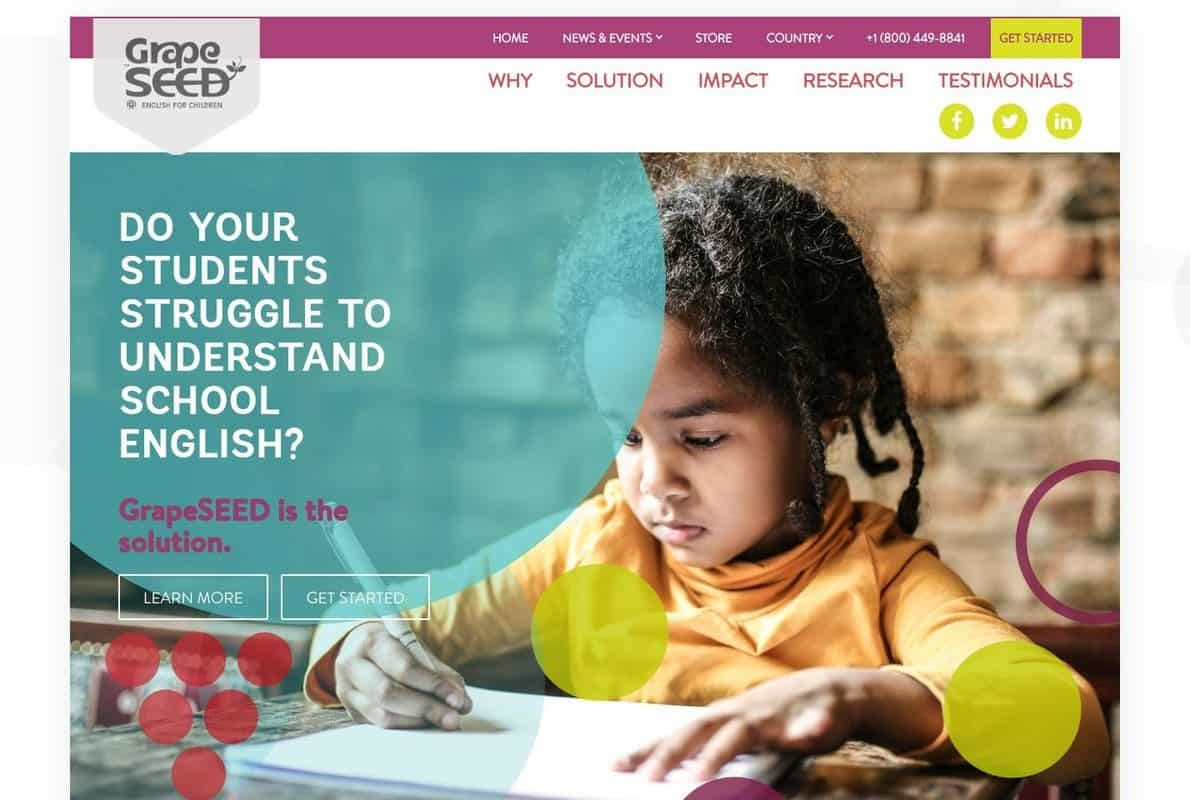 GrapeSEED Divi Theme Example
