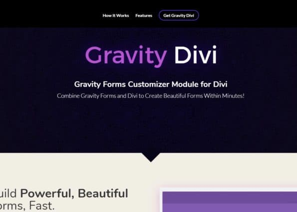 Gravity Divi on Divi Gallery