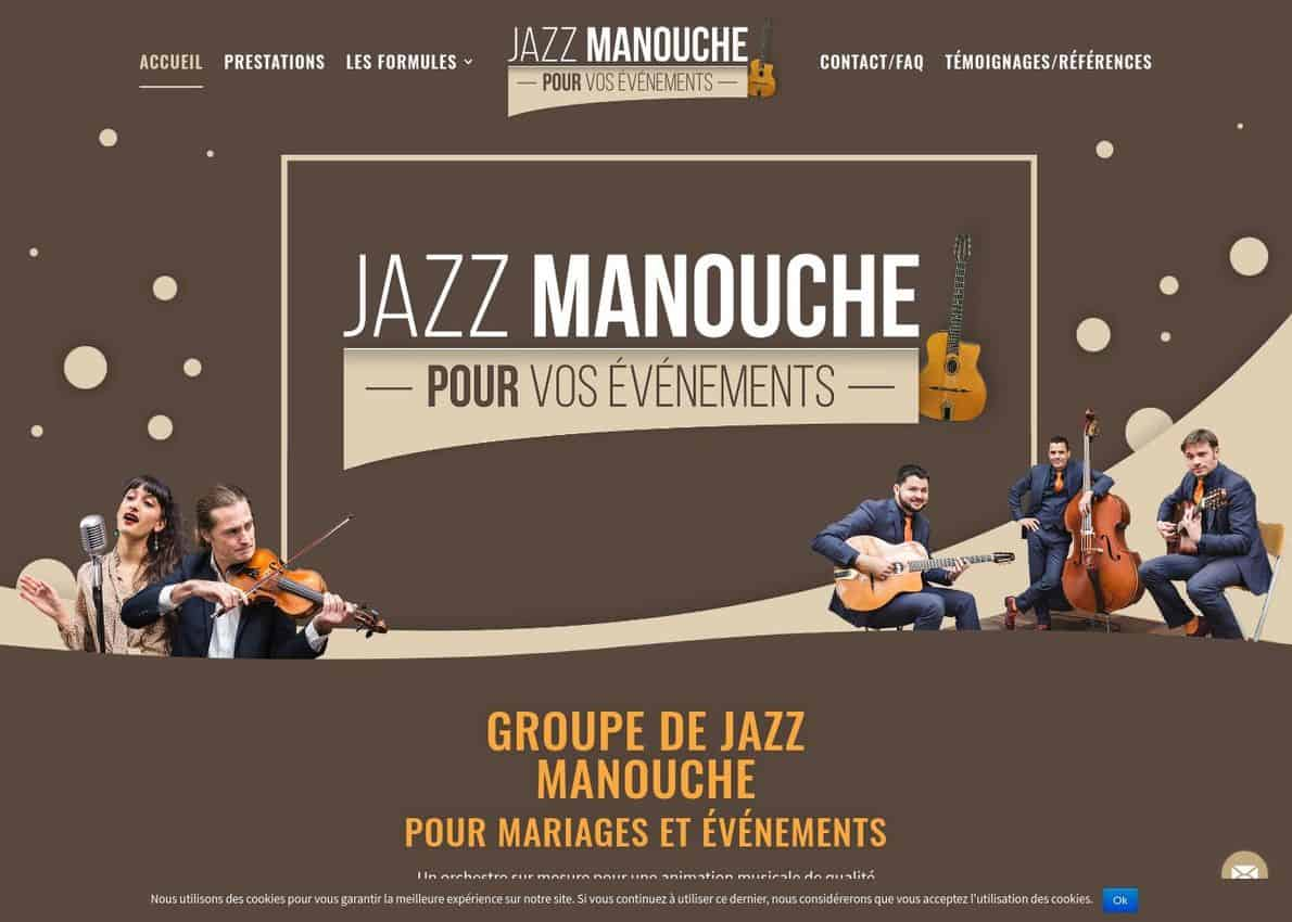 Gypsy Jazz for Weddings and Events Divi Theme Example