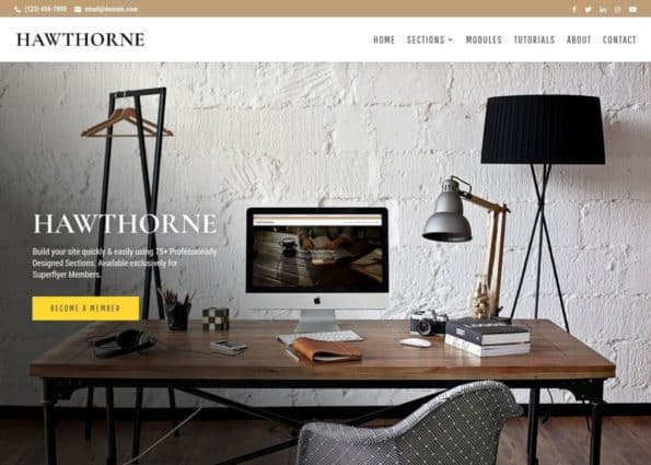 Hawthorne Super Theme on Divi Gallery