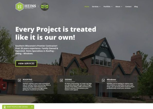 Heins Contracting on Divi Gallery