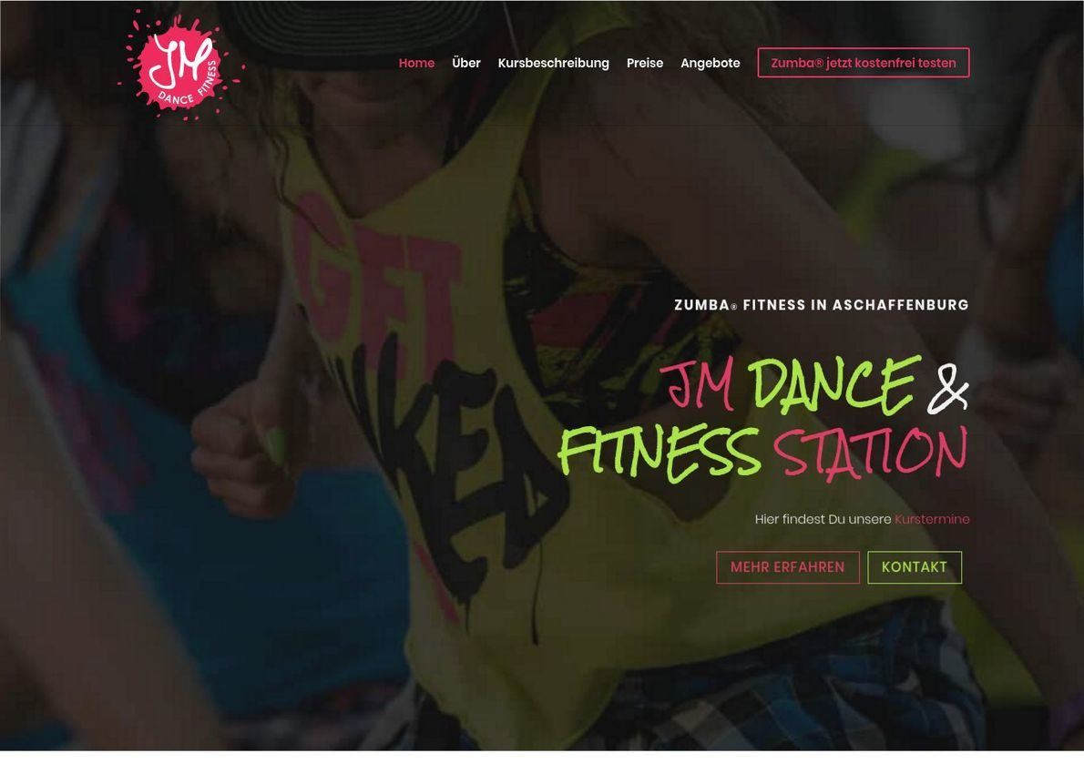 JM Dance and Fitness Station – Zumba in Aschaffenburg Divi Theme Example