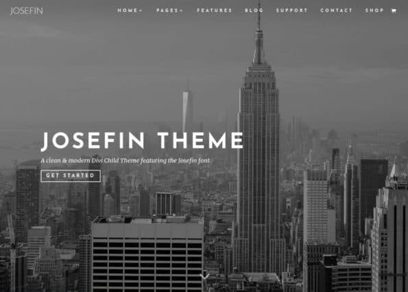 Josefin Theme on Divi Gallery