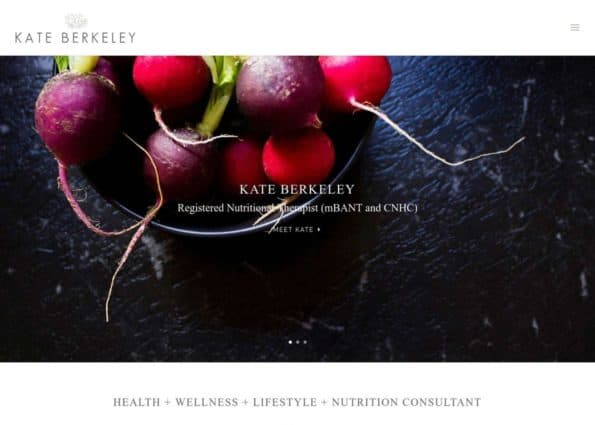 Kate Berkely Registered Nutritional Therapist on Divi Gallery
