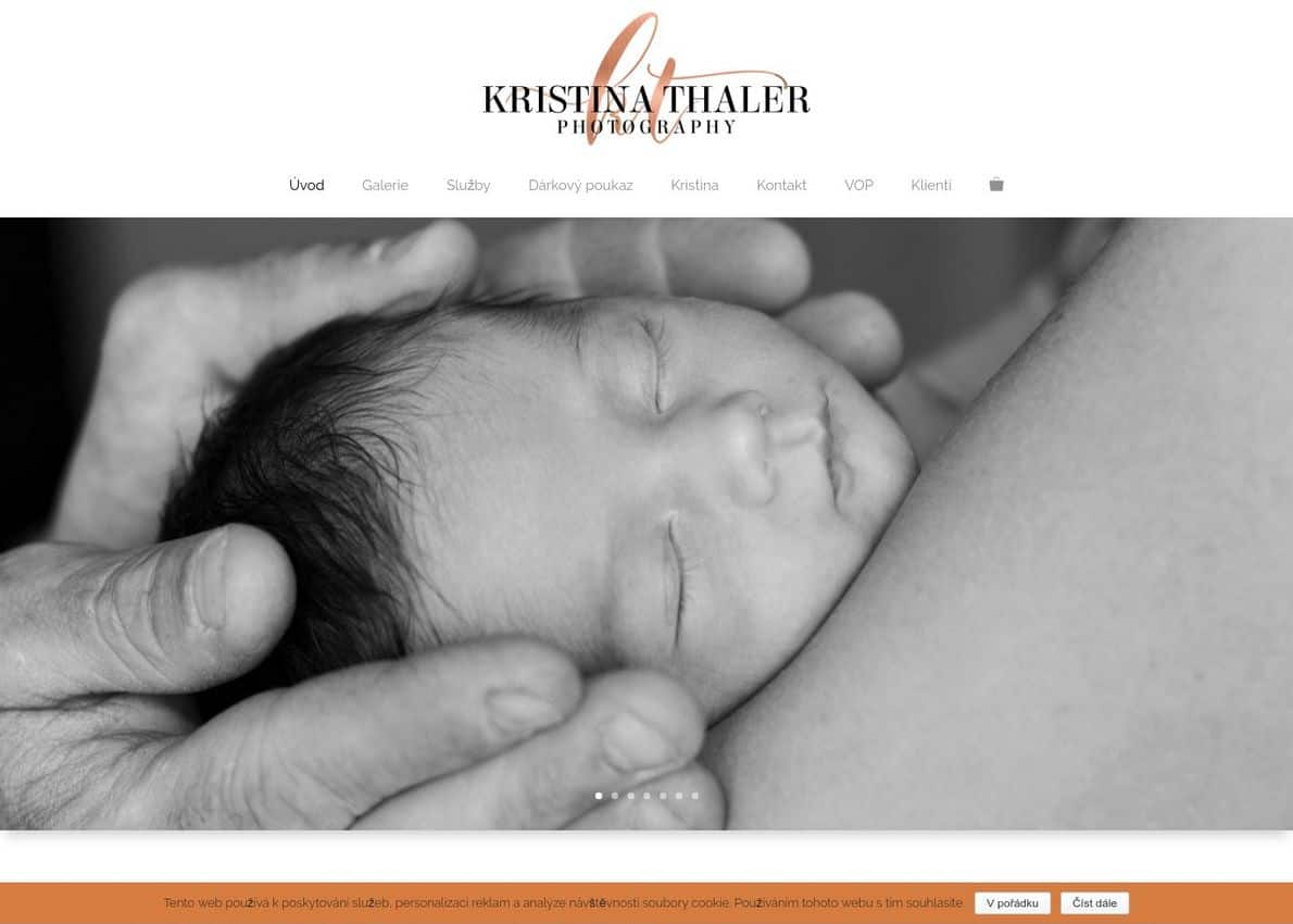Kristina Thaler photography Divi Theme Example