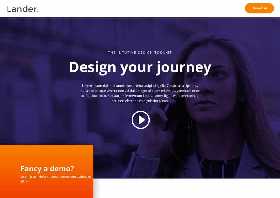 Lander Divi Theme Example