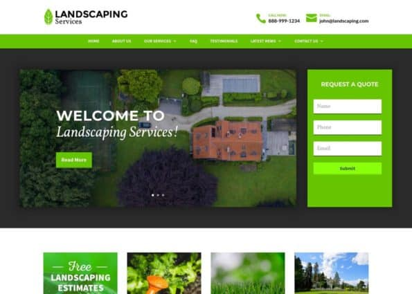 Landscaping Theme on Divi Gallery