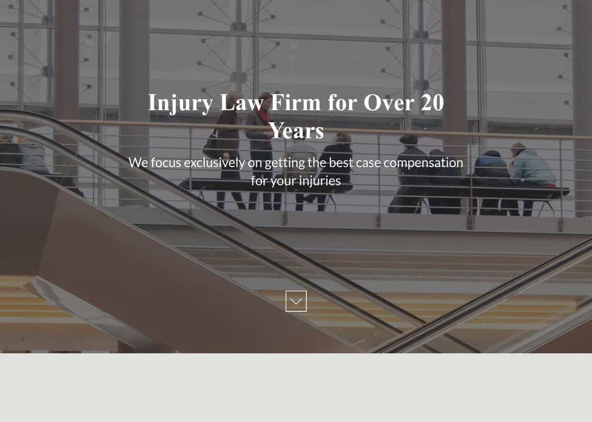 Law Firm Layout Divi Theme Example