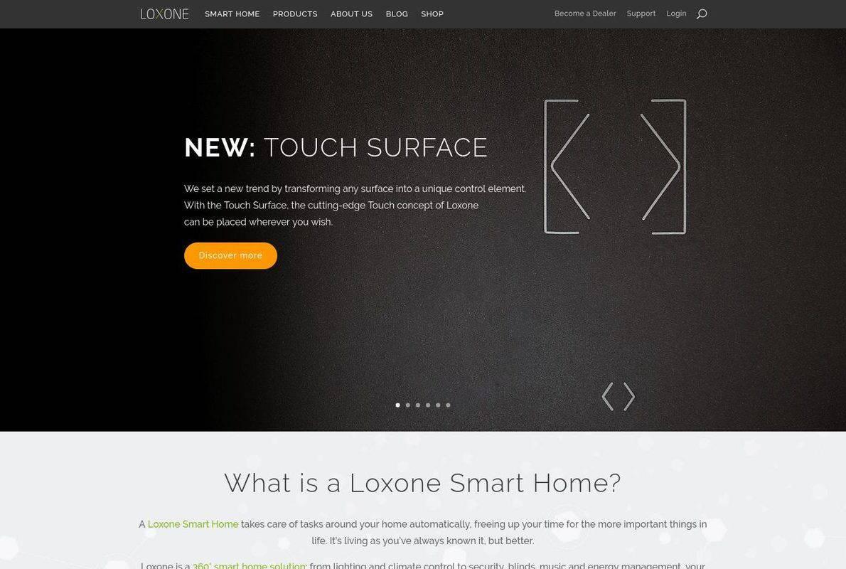 Loxone Divi Theme Example