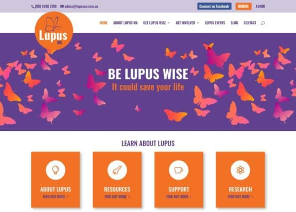 Lupus WA on Divi Gallery