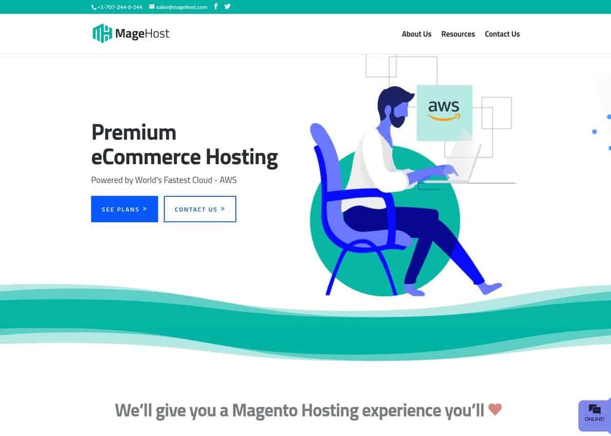 MageHost.com Divi Theme Example