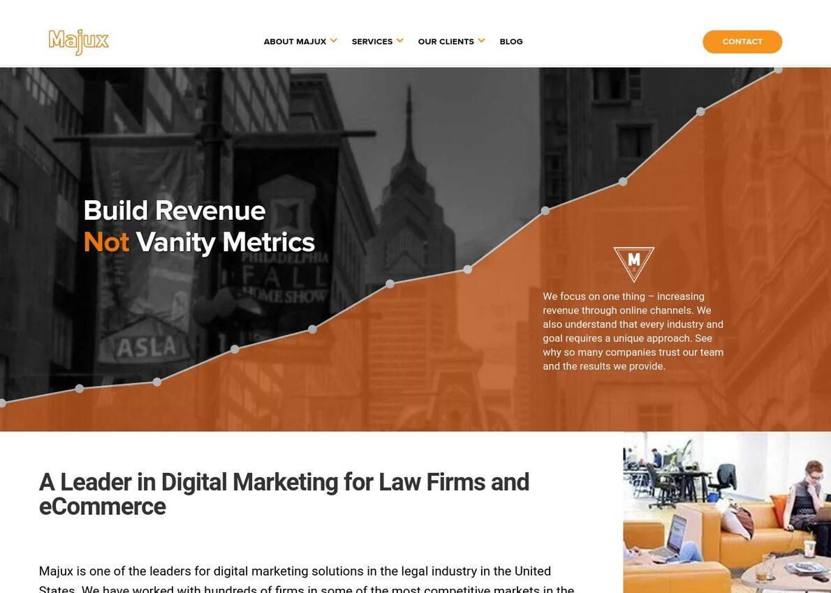 Majux Marketing Divi Theme Example