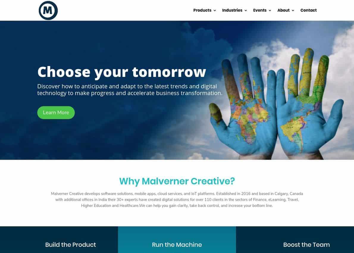 Malverner Creative Divi Theme Example