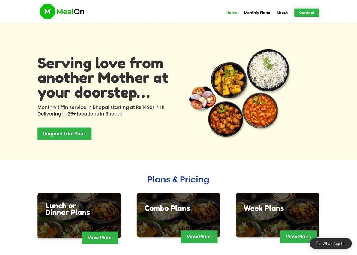 MealOn Divi Theme Example