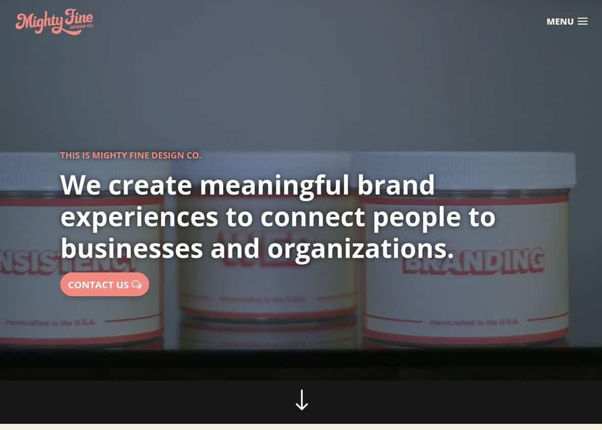 Mighty Fine Design Co. Divi Theme Example