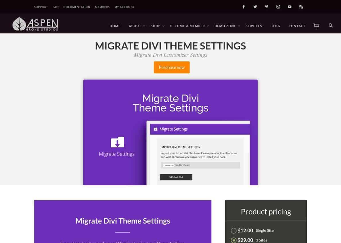 Migrate Divi Theme Settings (Multipurpose Divi Plugin