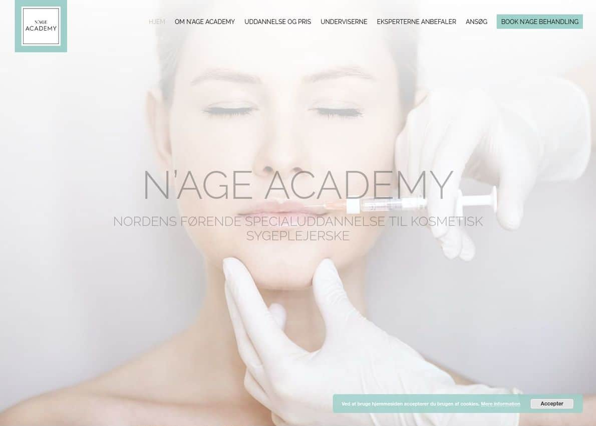 N'AGE ACADEMY Divi Theme Example