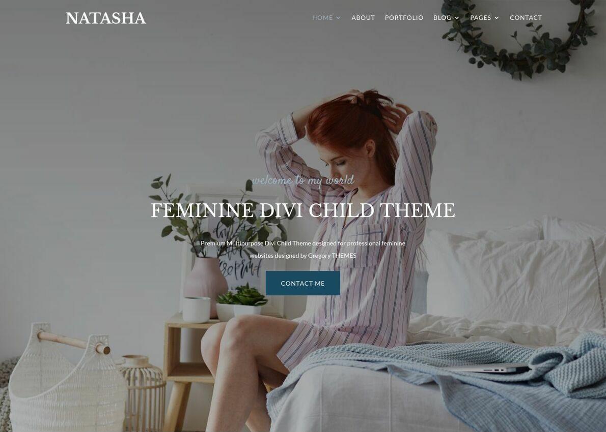 Natasha Feminine Theme Divi Theme Example
