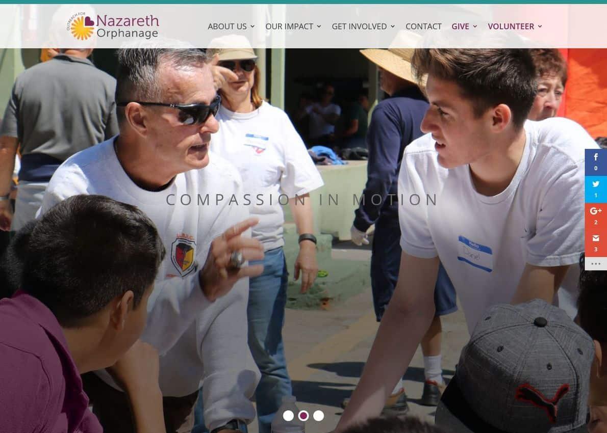 Nazareth Orphanage Divi Theme Example