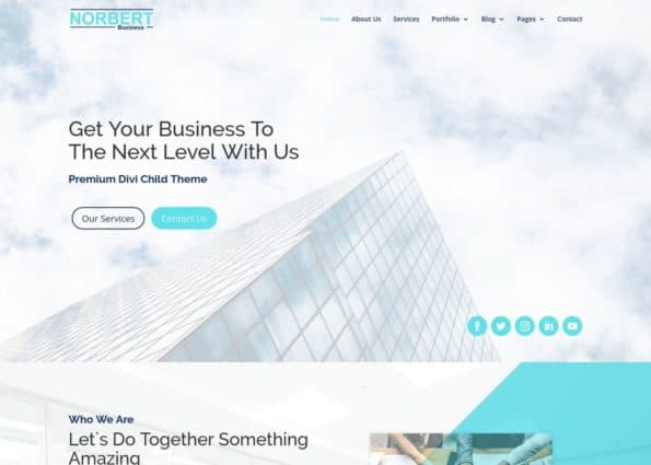 Norbert Business Theme on Divi Gallery
