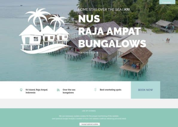 Nus Raja Ampat Bungalows on Divi Gallery