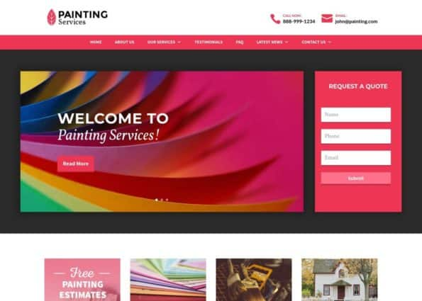 Painting Theme on Divi Gallery