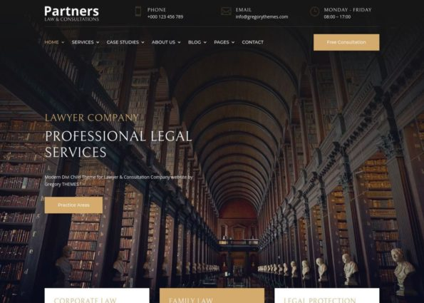 Partners Lawyer Theme on Divi Gallery