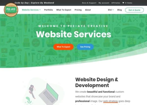 Pee-Aye Creative on Divi Gallery