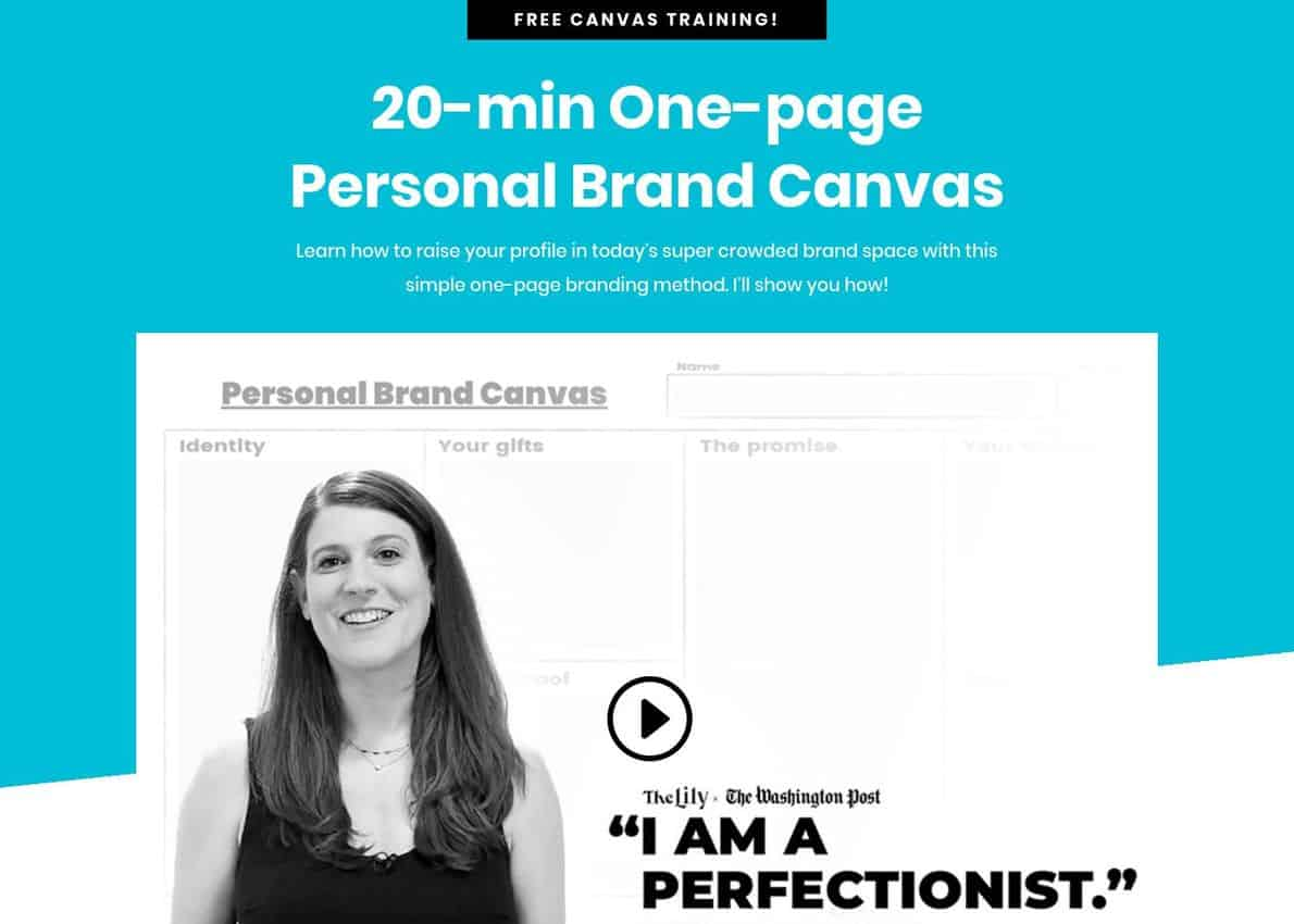 Personal Brand Canvas Divi Theme Example