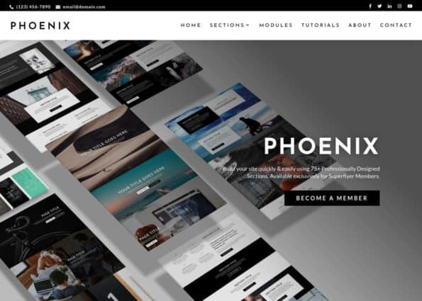Phoenix Super Theme on Divi Gallery