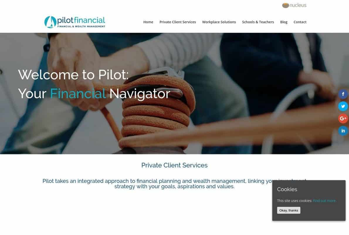 Pilot Financial Divi Theme Example