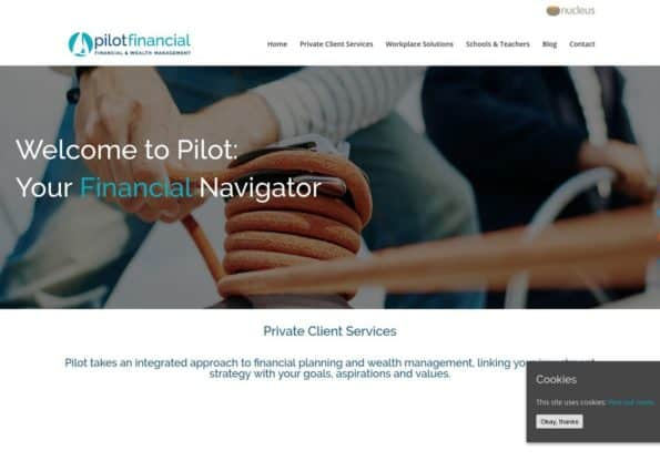 Pilot Financial on Divi Gallery