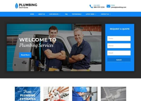 Plumbing Theme on Divi Gallery