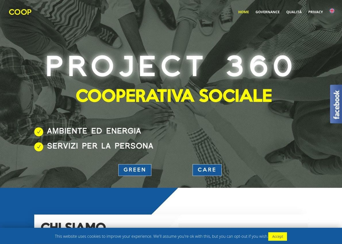 Project 360 Divi Theme Example