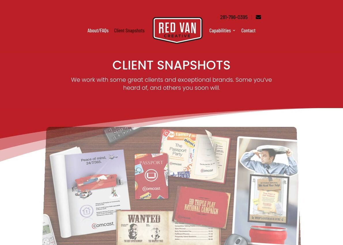 Red Van Creative Divi Theme Example