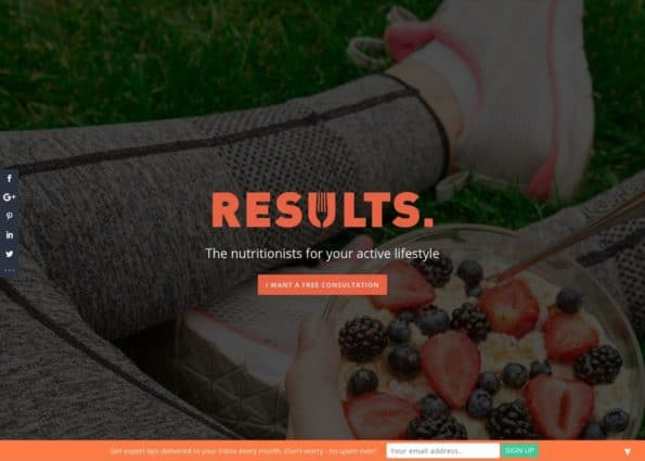 Results Food Coaching on Divi Gallery