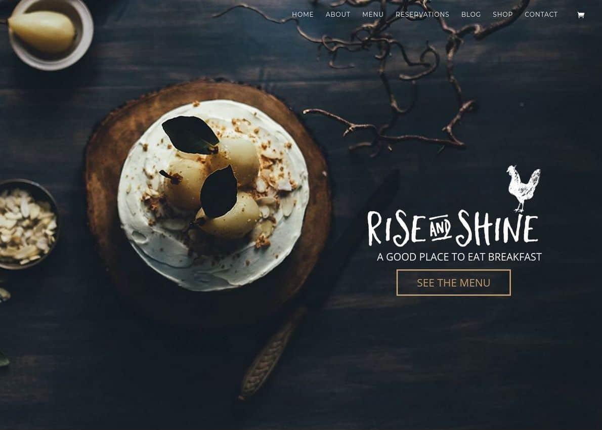 Rise & Shine Theme Divi Theme Example