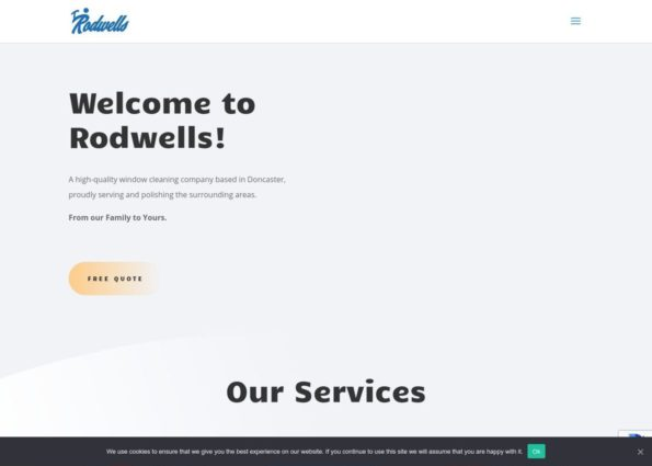 Rodwells Windows Cleaning on Divi Gallery