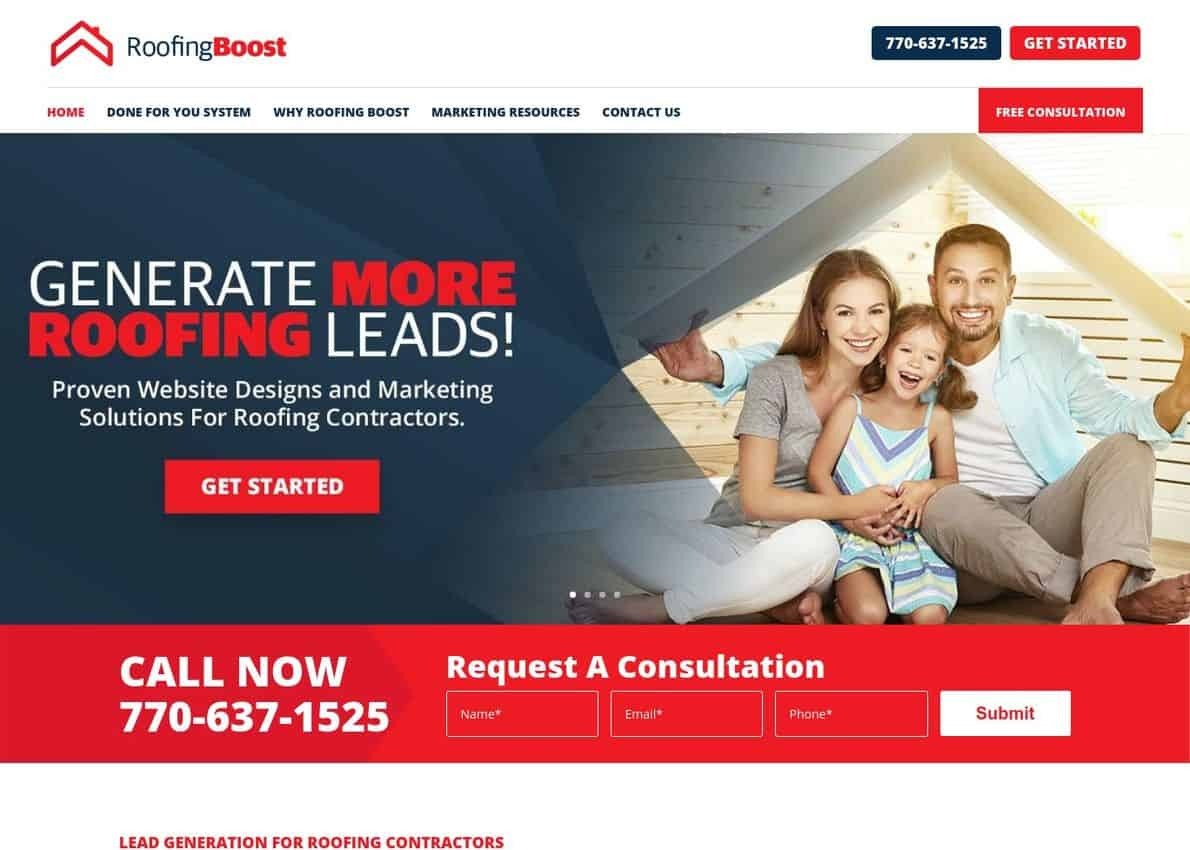 Roofing Boost Divi Theme Example