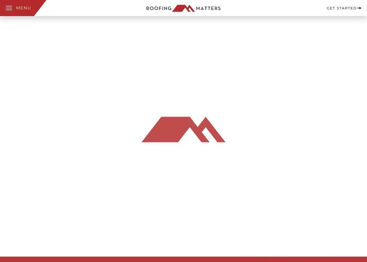 Roofing Matters Divi Theme Example