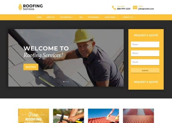 Roofing Theme on Divi Gallery