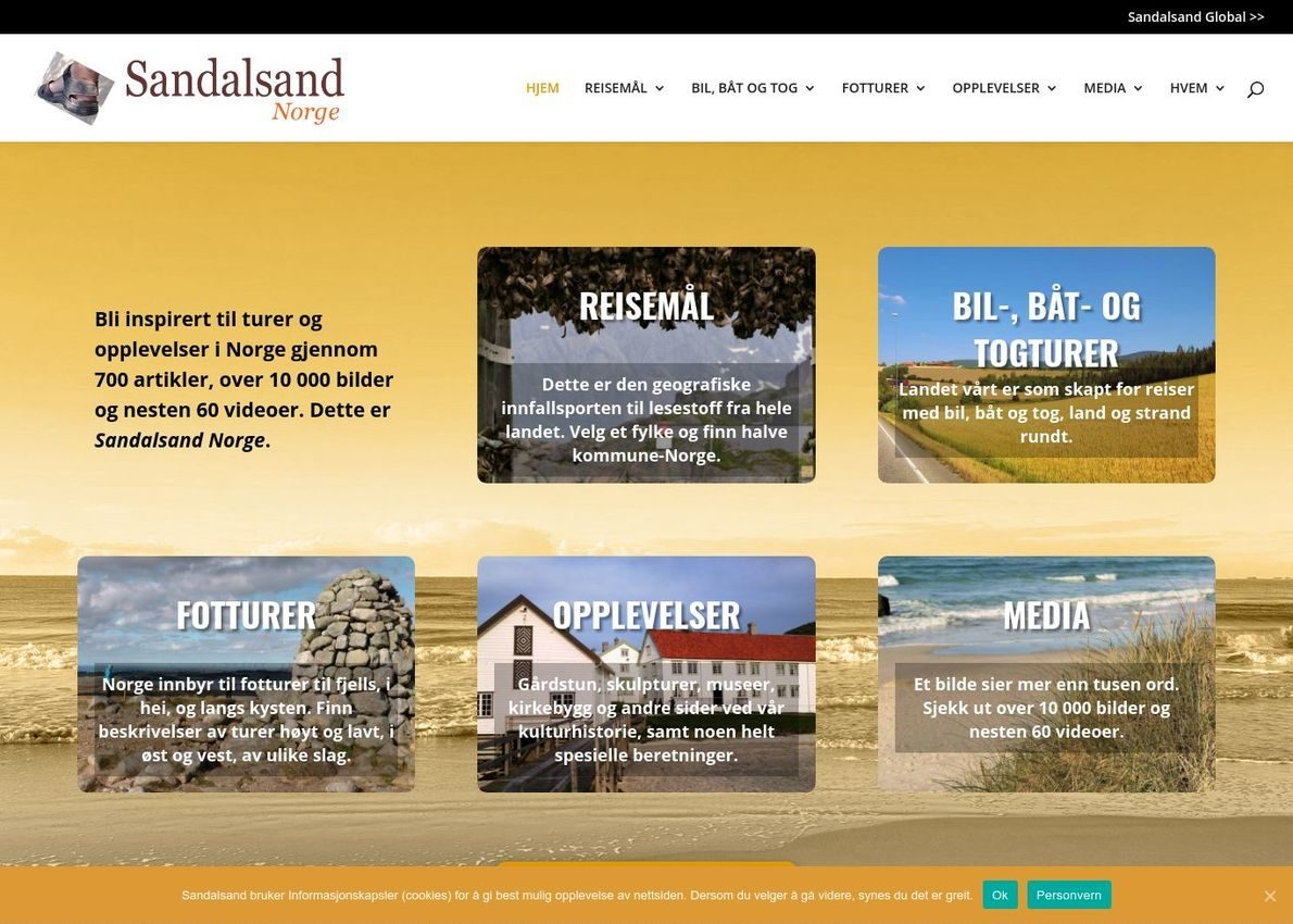 Sandalsand Norge Divi Theme Example