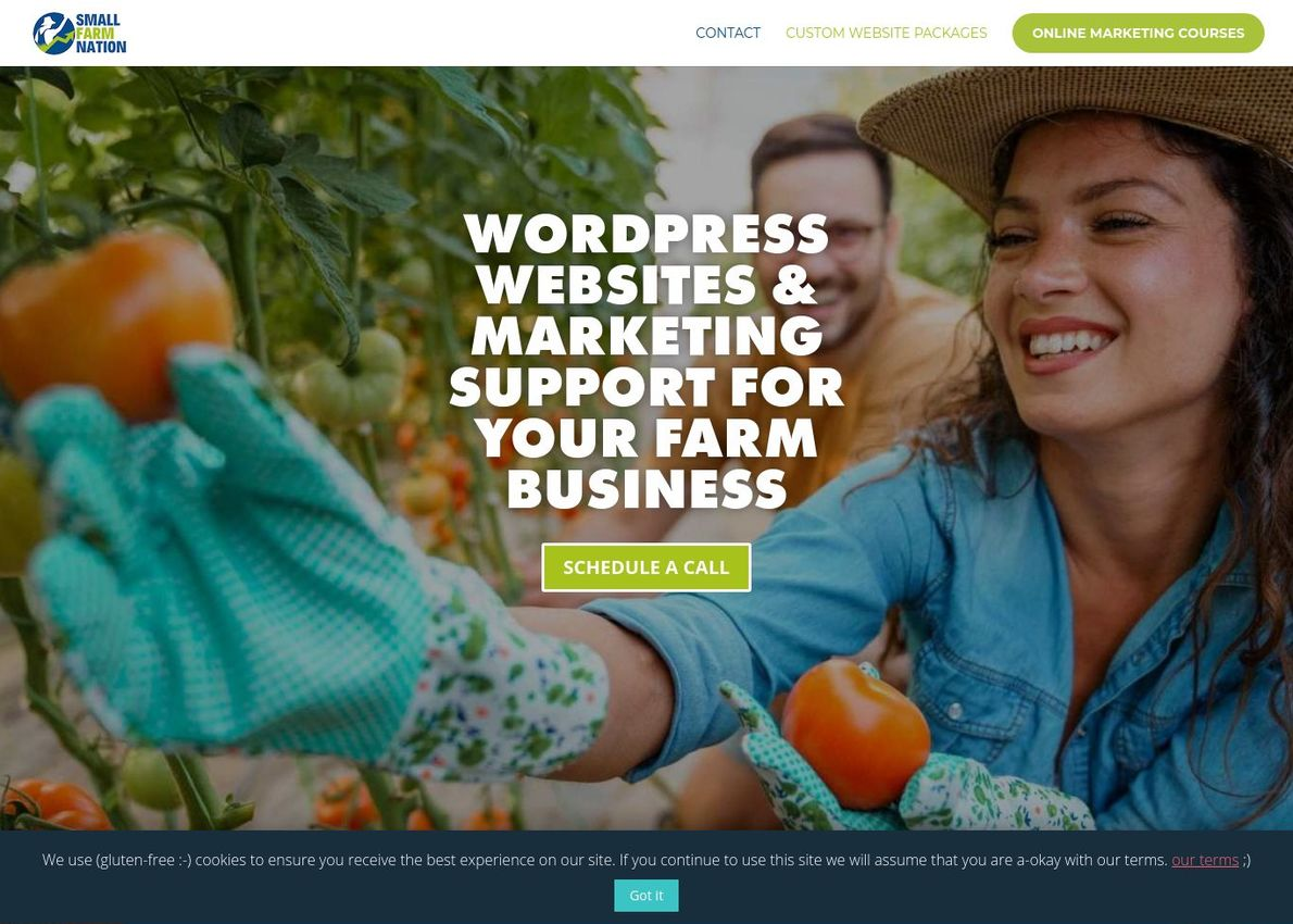 Small Farm Nation Divi Theme Example