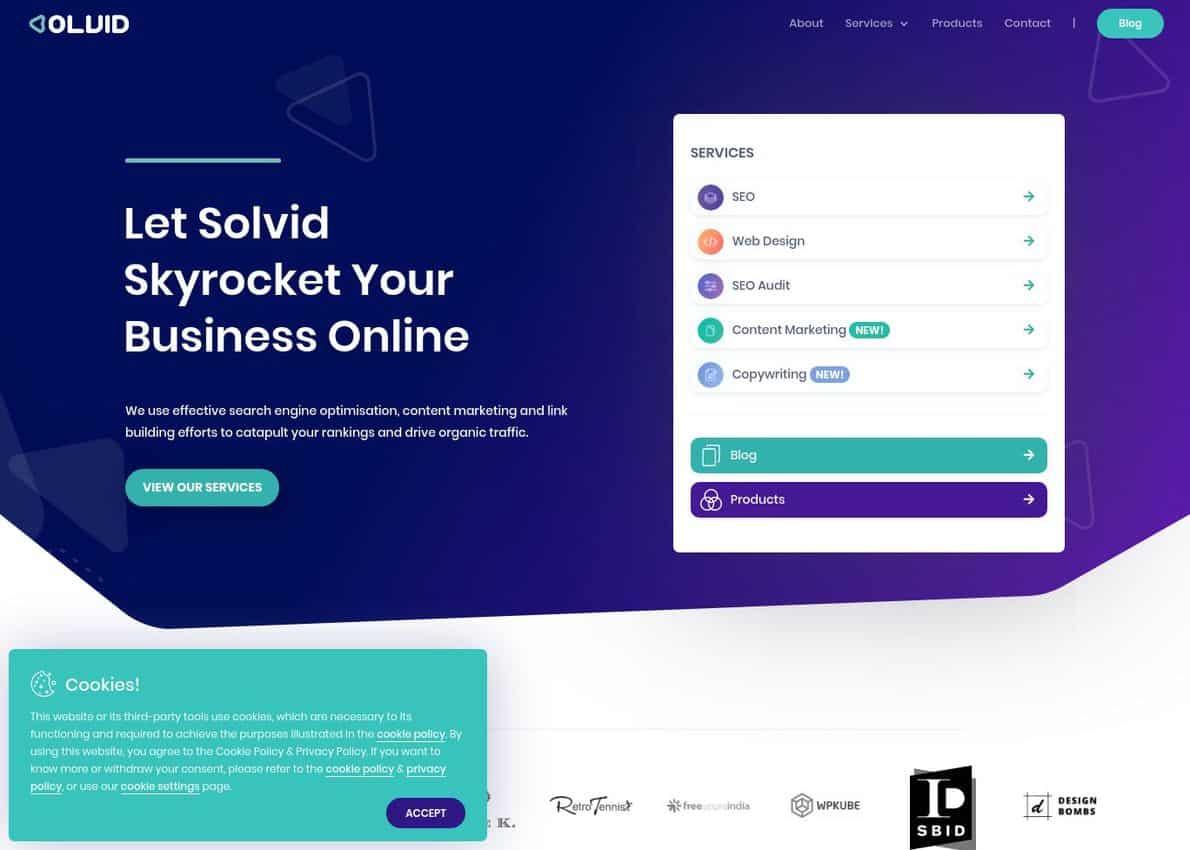Solvid Digital Divi Theme Example