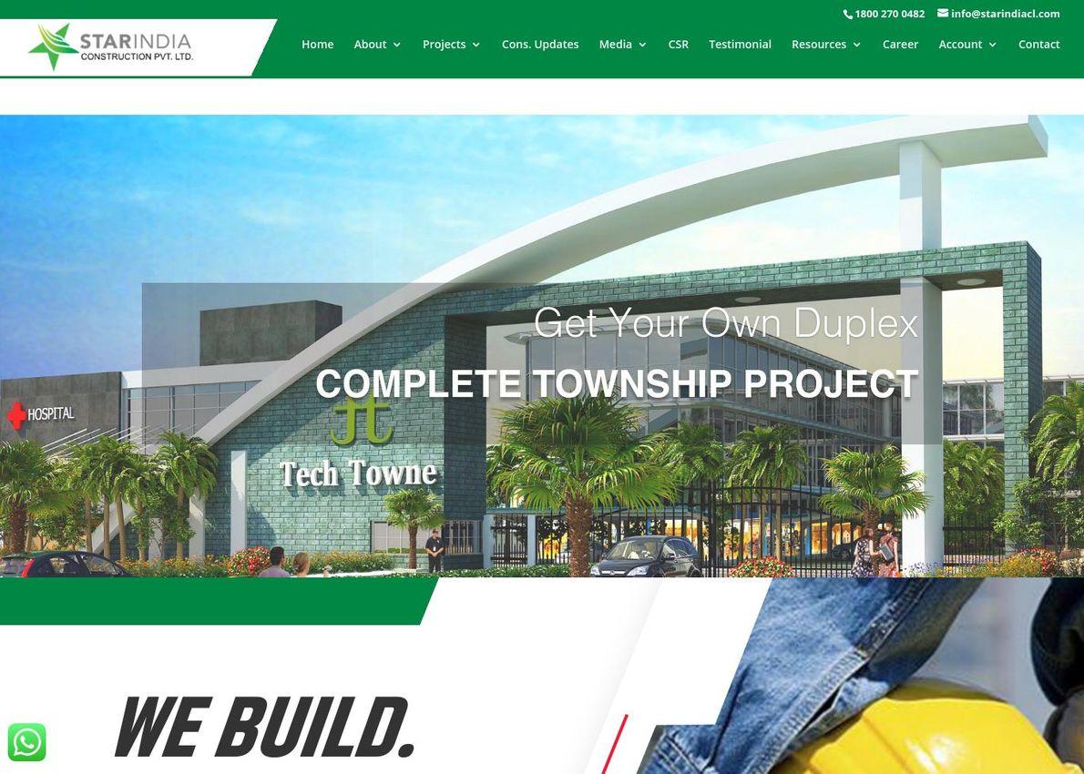 Star India Construction Divi Theme Example