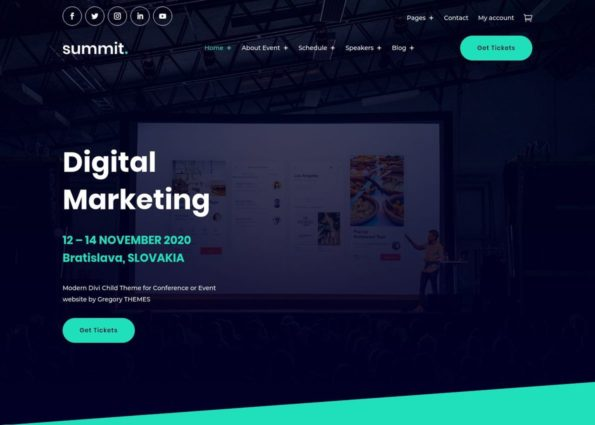 Summit Event WooCommerce Theme on Divi Gallery