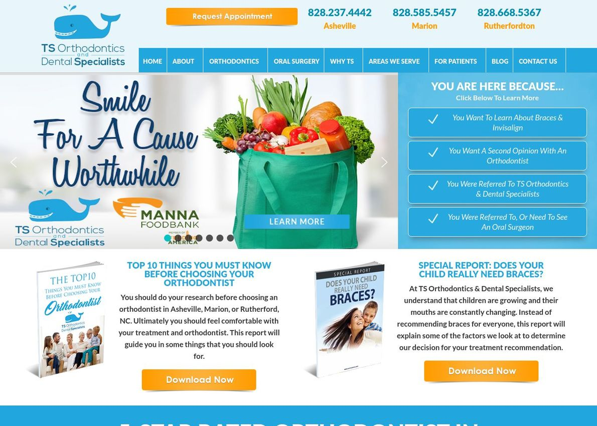 TS Orthodontics Divi Theme Example