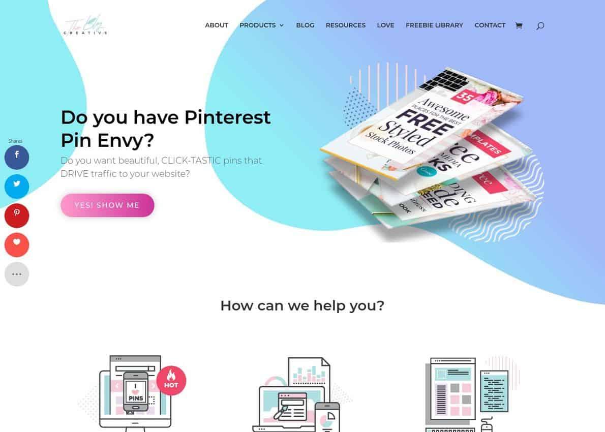 The Blog Creative Divi Theme Example
